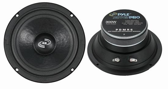 "Pyle PDMR6 6.5"" 300w 8 Ohm DJ Cabinet Sealed Paper Midrange Mid Range Driver"