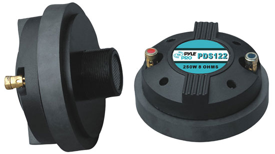 Pyle-Pro PDS122 250 Watt 1.5-inch Titanium Compression Horn Driver (Screw-on Type)