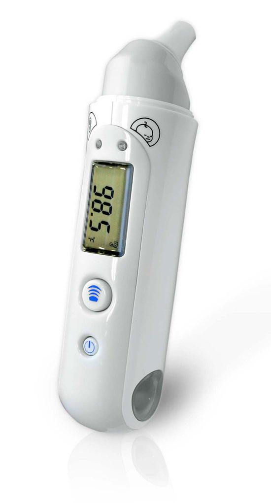PHTM20BTGR Bluetooth Infrared Ear & Body Digital Thermometer Downloadable Pyle