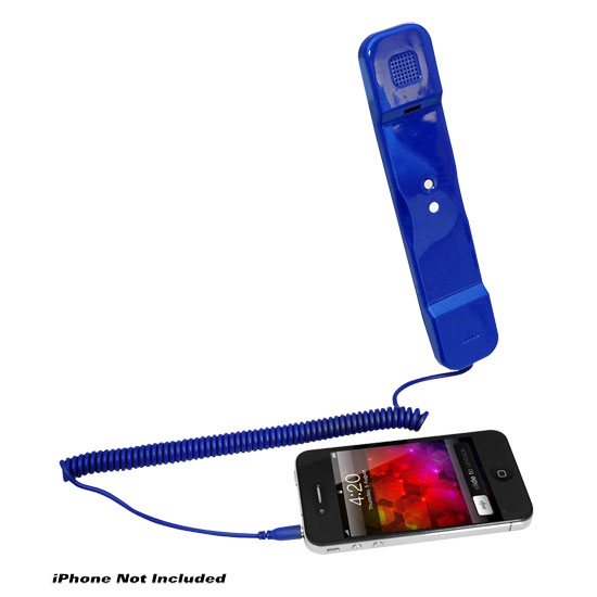 Pyle Home PITP8BL Retro Style Wired Handset for iPhone iPad Android