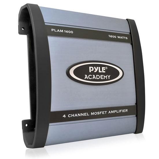 Pyle Academy 4 Ch Four Channel 1600w Blue Bridgeable Car Speaker Amplifier Amp