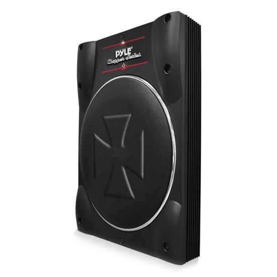 Pyle PLBASS8 8-Inch Low-Profile Super Slim Active Amplified Subwoofer System