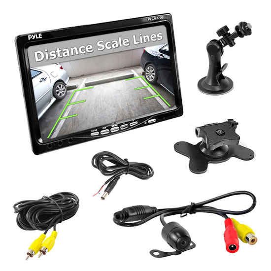 "Pyle PLCM7700 7"" Window Mount Monitor & Reversing Rear View Camera"