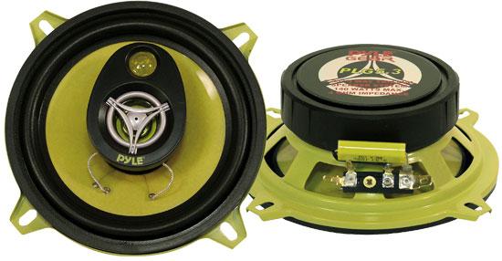 "Pyle Gear 5.25"" 13cm 130mm 280w Car Door Shelf Three Way Coaxial Speakers Pair"