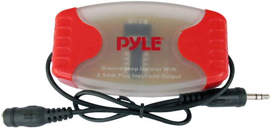 Pyle PLGI35T 3.5MM / 1/8'' Stereo Audio Ground Loop Isolator Noise Destroyer