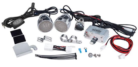 Pyle PLMCA62BT 600w Motorcycle Bike Bluetooth WeatherProof Speakers Amp iPod