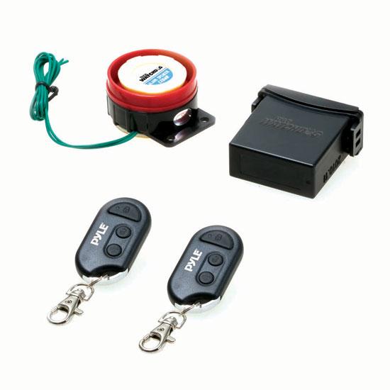 Pyle PLMCWD15 Motorcycle Alarm System w/WaterResistant Mini Wireless Control
