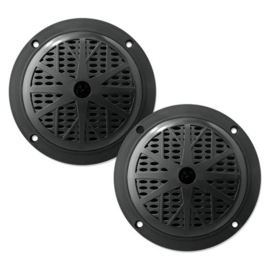 """Pyle PLMR61B 120W 6.5"""" Dual Cone Marine Boat Outdoor WaterProof Patio Speakers"""