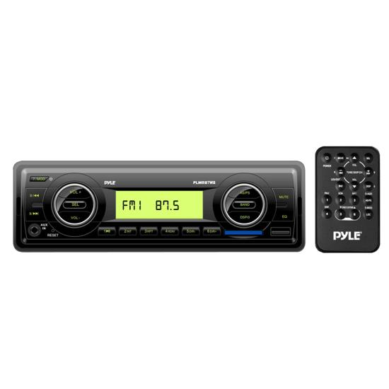 Pyle Marine Boat Black MP3 Player Stereo Radio IPOD USB SD CARD And WeatherBand