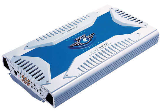 Pyle PLMRA620 6 Channel 2000w WaterProof Marine Bridgeable Mosfet Amplifier
