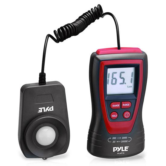 Pyle PLMT15 Handheld Lux Light Meter Photometer LCD Display 200000 Lux Range