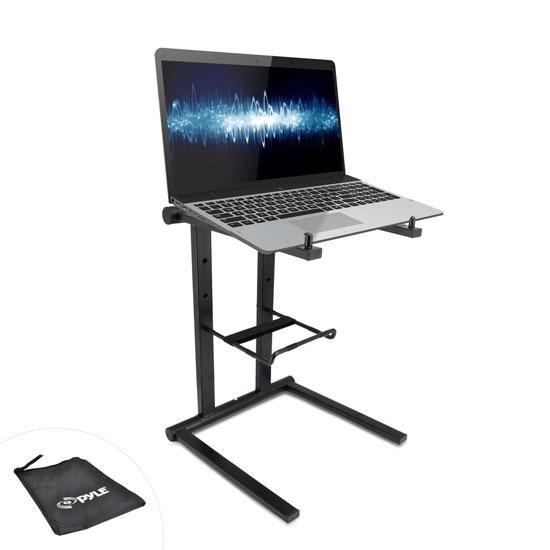 Pyle PLPTS35 Universal Portable Foldable Professional DJ Laptop Controller Stand