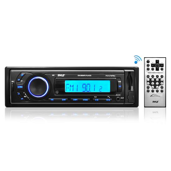 Pyle PLR27MPBU Car Stereo Radio AM/FM SD/USB/MP3/AUX Bluetooth Wireless & Remote