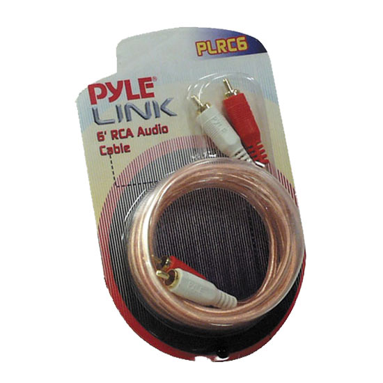 Pyle PLRC6 6ft Stereo RCA Cable