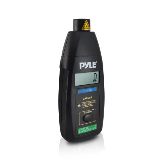Pyle PLT26 Non Contact Laser TacHometer LCD Display 99999 RPM Range & Case