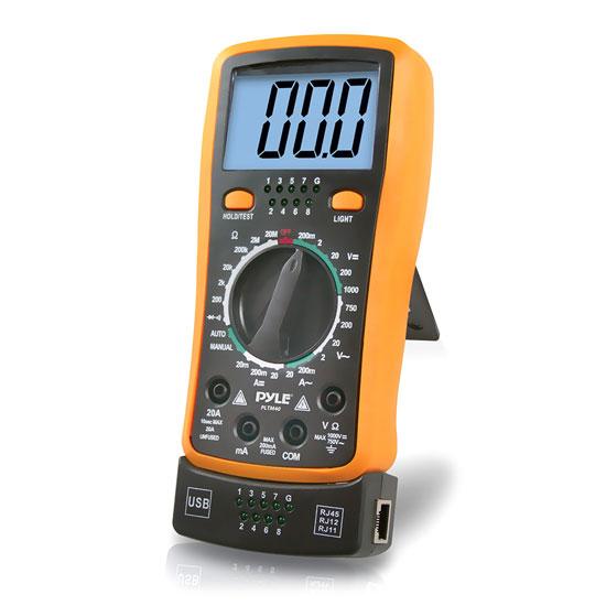 Pyle PLTM40 LCD Multimeter AC DC Volt Current Resistance Transistor & Range