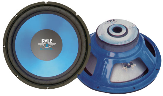 Pyle PLW15BL 15'' Blue Cone High Performance Woofer Car Subwoofer Sub Bass