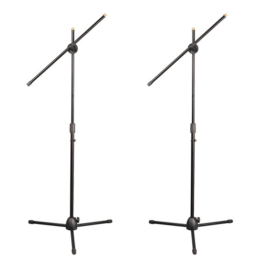 PylePro PMKSKT35 Universal Tripod Microphone Stand Kit with Adjustable and Extendable Boom (Set of 2)