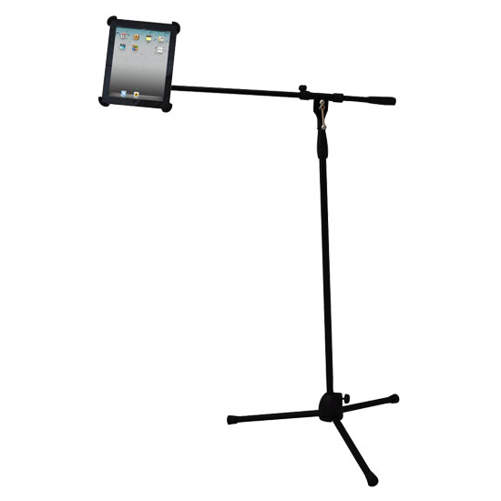 Pyle-Pro PMKSPAD1 Multimedia Microphone Music Stand With Adapter For Ipad