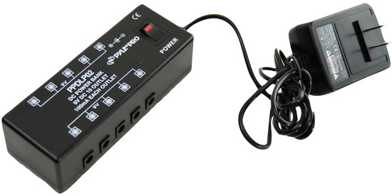 Pyle-Pro PPDLP02 DC PedalBoardPower Supply For Up To 10 Guitar Effects Pedals At 9 Volts