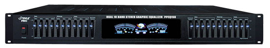 """Pyle-Pro PPEQ150 19"""" Rack Mount Dual 10 Band Stereo Graphic Equalizer Hi-Fi PA"""