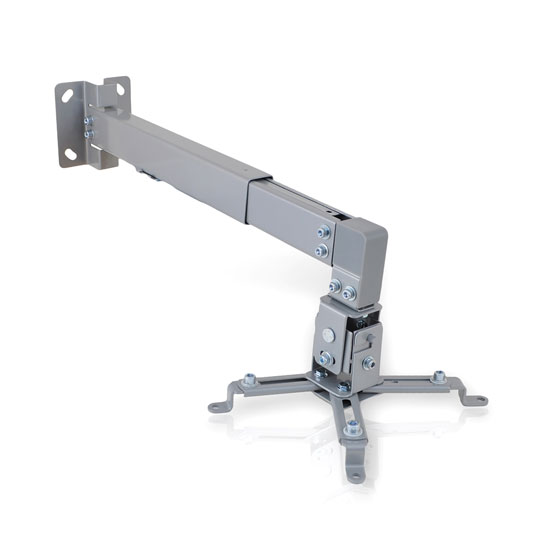 Pyle PRJWM8 Universal Projector Holder Wall Mount Telescoping Length, Angle Tilt