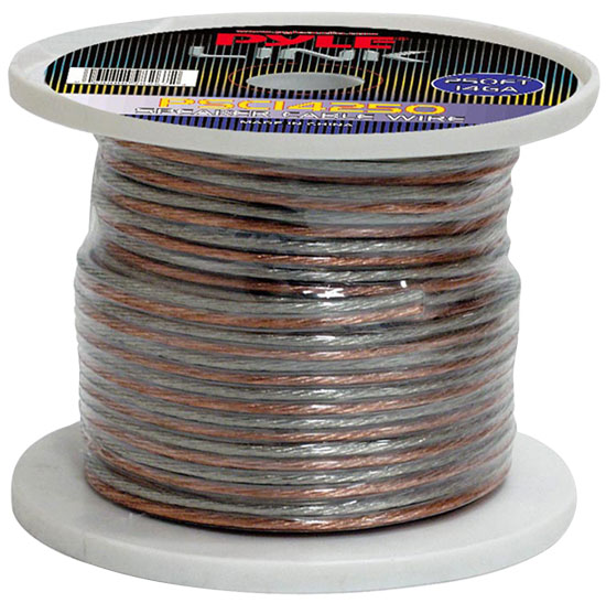 Pyle PSC14250 14 Gauge 250 ft. Spool of High Quality Speaker Zip Wire