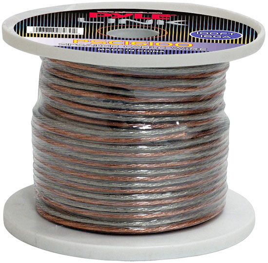 Pyle PSC16100 16 Gauge 100 ft. Spool of High Quality Speaker Zip Wire