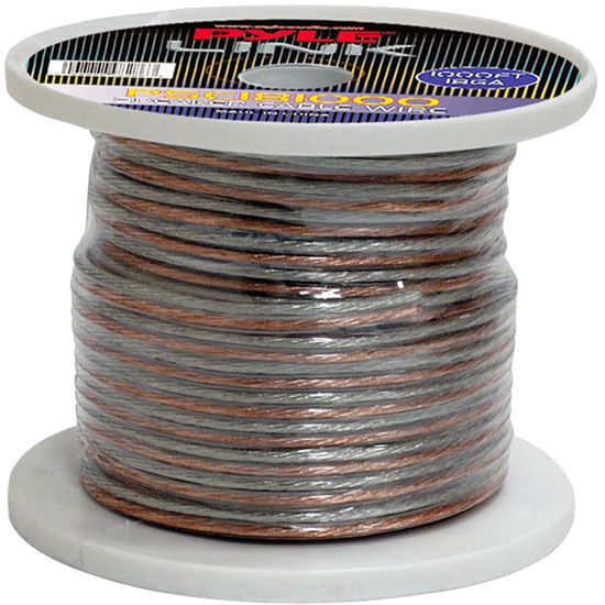 Pyle PSC181000 18 Gauge 1000 ft. Spool of High Quality Speaker Zip Wire