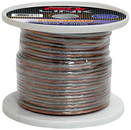 Pyle PSC1850 18 Awg Gauge 50 ft Spool Roll of High Quality Stereo Speaker Wire