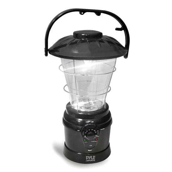 Camping Torch Lantern Radio Rechargeable Battery with Power Hand Crank Recharger