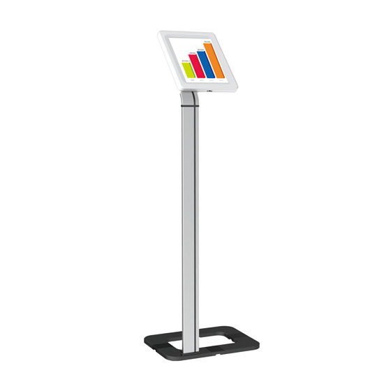 Pyle Anti-Theft iPad/Tablet Kiosk Public Display Floor Stand (Works with iPad Generations 1/2/3/4 and iPad Air)