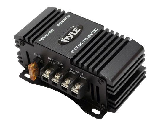 Pyle PSWNV120 24V DC to 12V DC Power Step Down 120W Converter Transformer