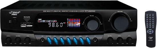 Pyle-Home PT560AU 300w Digital AM FM USB Stereo Receiver