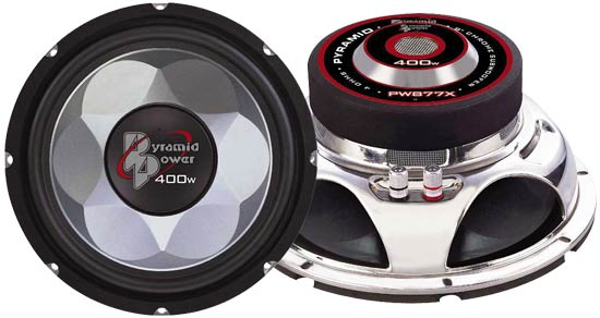 "Pyramid Power Mid Bass Driver 8"" 4 Ohm 400w In Car Audio Subwoofer Sub Woofer"