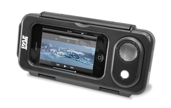 Pyle PWPS63BK WaterProof Portable Speaker Case for iPod iPhone MP3 Smartphone