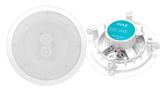PWRC62 6.5'' In-Ceiling Dual Channel/ Voice Coil Weather Proof Speaker