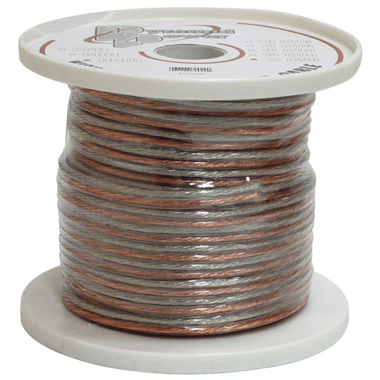 Pyramid RSW1250 12 Gauge 50 ft. Spool of High Quality Speaker Zip Wire