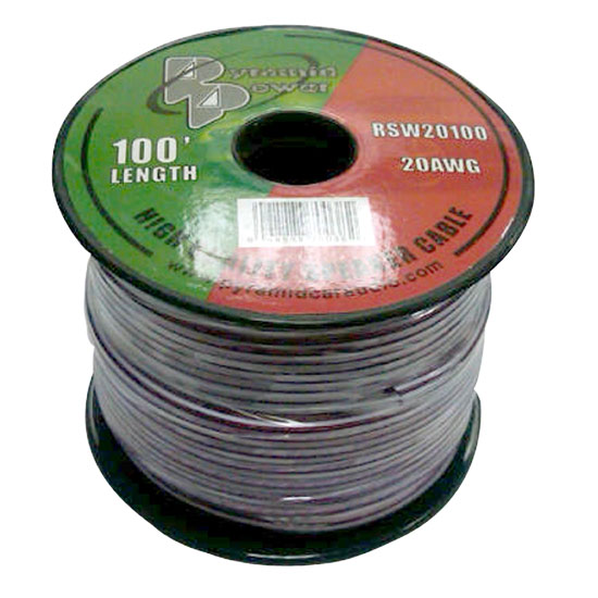 Pyramid RSW20100 20 Gauge 100 ft. Spool of High Quality Speaker Zip Wire