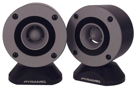 "Pyramid TW28 Door Dash Mount Surface Fit 300w 3.25"" Bullet Horn Tweeters"