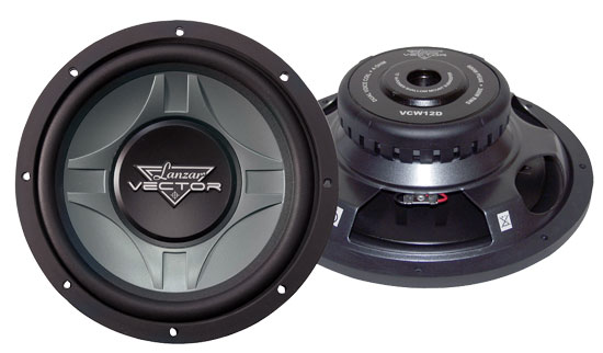 "Lanzar Vector 12"" Inch 600w Slim Shallow Mount Underseat Compact Subwoofer Sub"