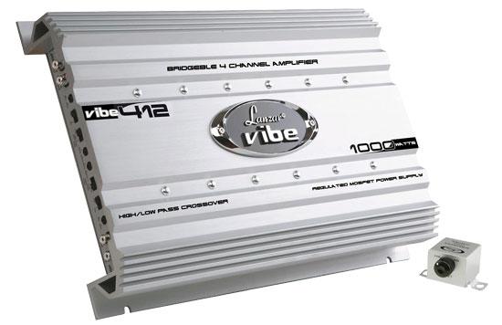 Lanzar 4 Ch Four Channel 1000w Silver Bridgeable Car Speaker Amplifier Amp