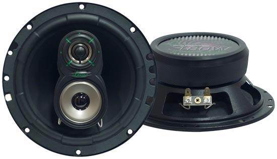 "Lanzar VX 6.5"" 16.5cm 17cm 180w Coaxial Three Way Pair Car Door Shelf Speakers"
