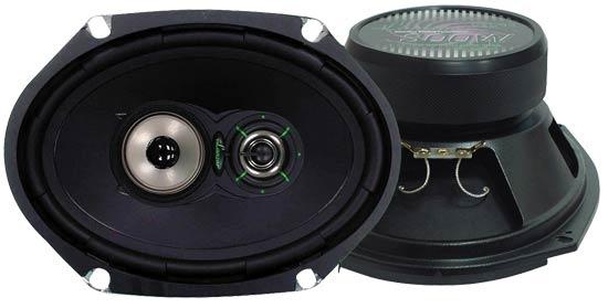 "Lanzar 6x8"" Oval Coaxial 3 Way Pair Of Car Door Shelf Speakers 520w Ford Mazda"