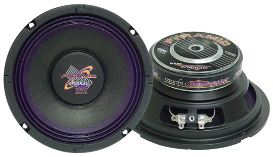 Pyramid WH68 6'' 200 Watt High Power Paper Cone 8 Ohm Subwoofer