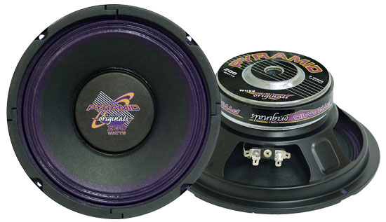 Pyramid WH88 8'' 250 Watt High Power Paper Cone 8 Ohm Subwoofer