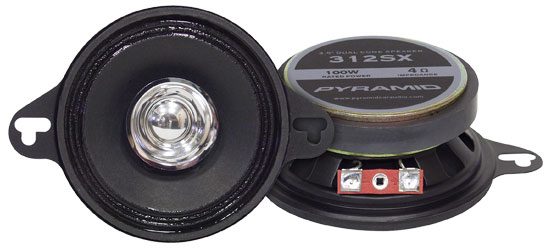Pyramid 312SX 3.5'' 100 Watts Two-Way Dual Cone Speakers Thumbnail 1
