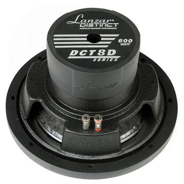 Lanzar DCT8D Distinct Series 600 Watt 8-Inch High Power Dual 4 Ohm Voice Coil Subwoofer Thumbnail 2