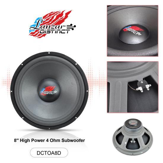 Lanzar DCTOA8D Distinct Open Air DVC Distinct Series 8-Inch High Power IB Open Free-Air 4 Ohm Subwoofer DVC Thumbnail 4