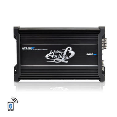 Lanzar HTG448BT Heritage Series 2000 W 4 Channel Mosfet Amplifier with Wireless Bluetooth Interface Thumbnail 4